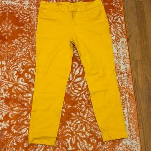 NWOT Mustard Twill Pixie Cut Pants